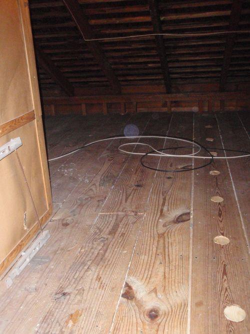 Plugs in floor